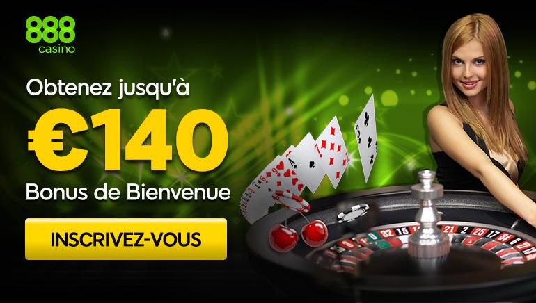 Gagnez Jusqu'à €140 Chez 888 Casino