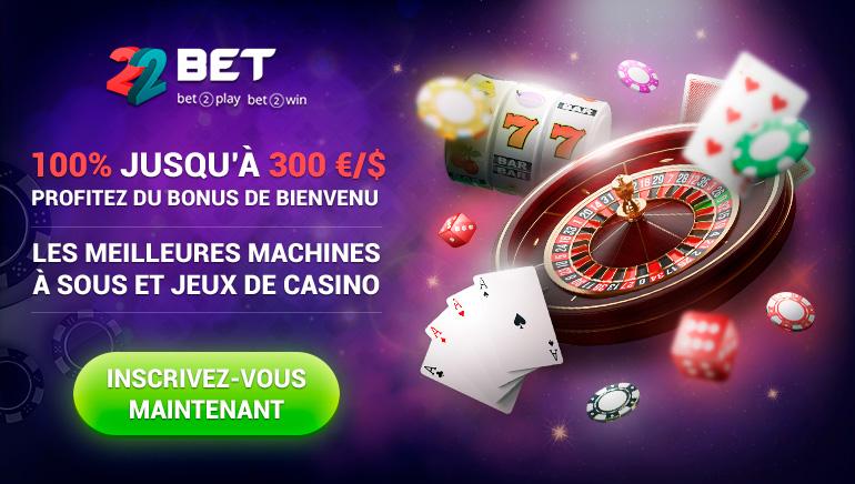 Bonus de bienvenue de 100% jusqu'à 300 € / $ - Meilleures machines à sous et jeux de casino