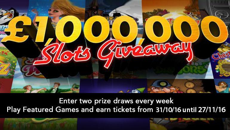 Gagne une Fortune avec le £/$1,000,000 Cadeau Machine à Sous de bet365 Ce Novembre